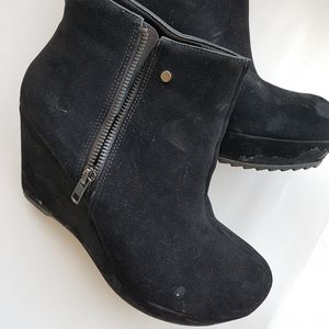 ALDO wedge suede booties
